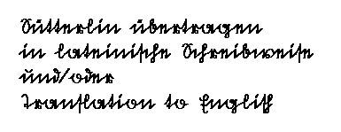 Handschrift, german script  translation